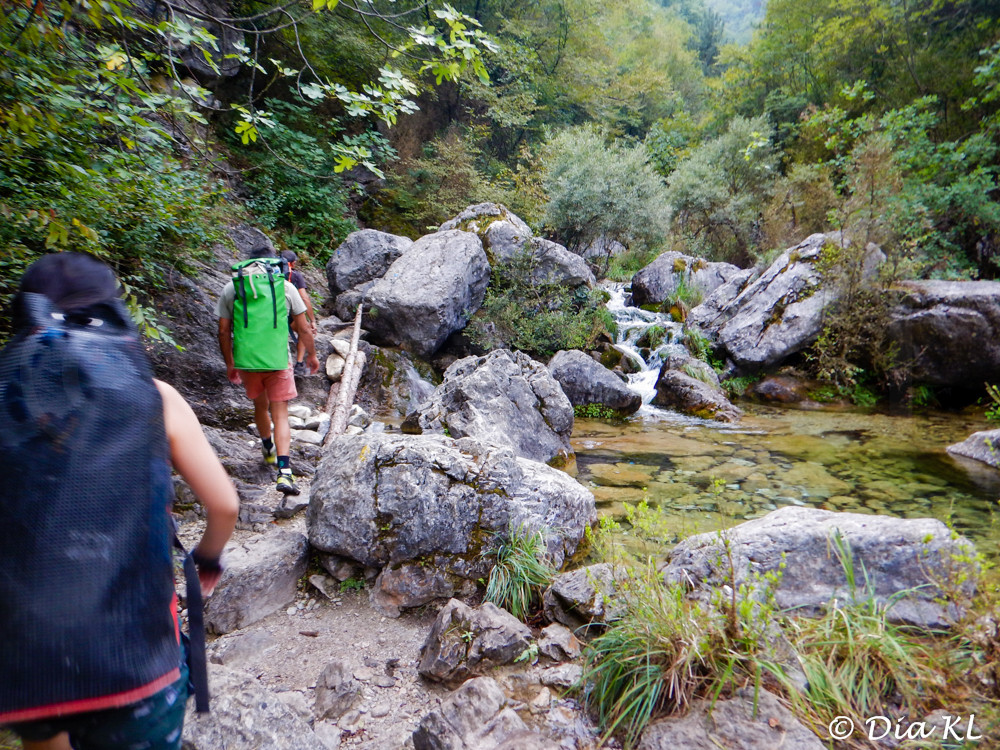 Olympos, Greece, Orlias canyon, canyoning