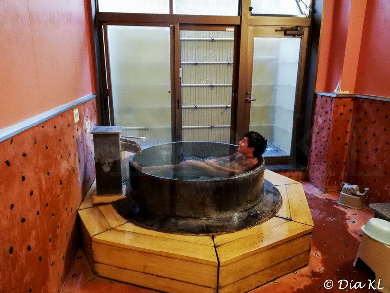 Private indoor onsen cooking pot style, Oita city, Oita prefecture, Kyushu, Japan