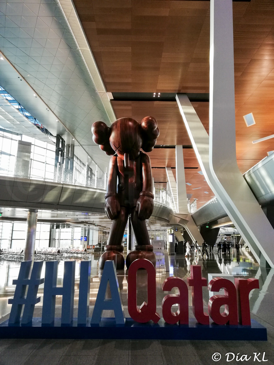 Hamad International Airport, Doha Qatar. July 2020 during the Covid 19 pandemic first wave.