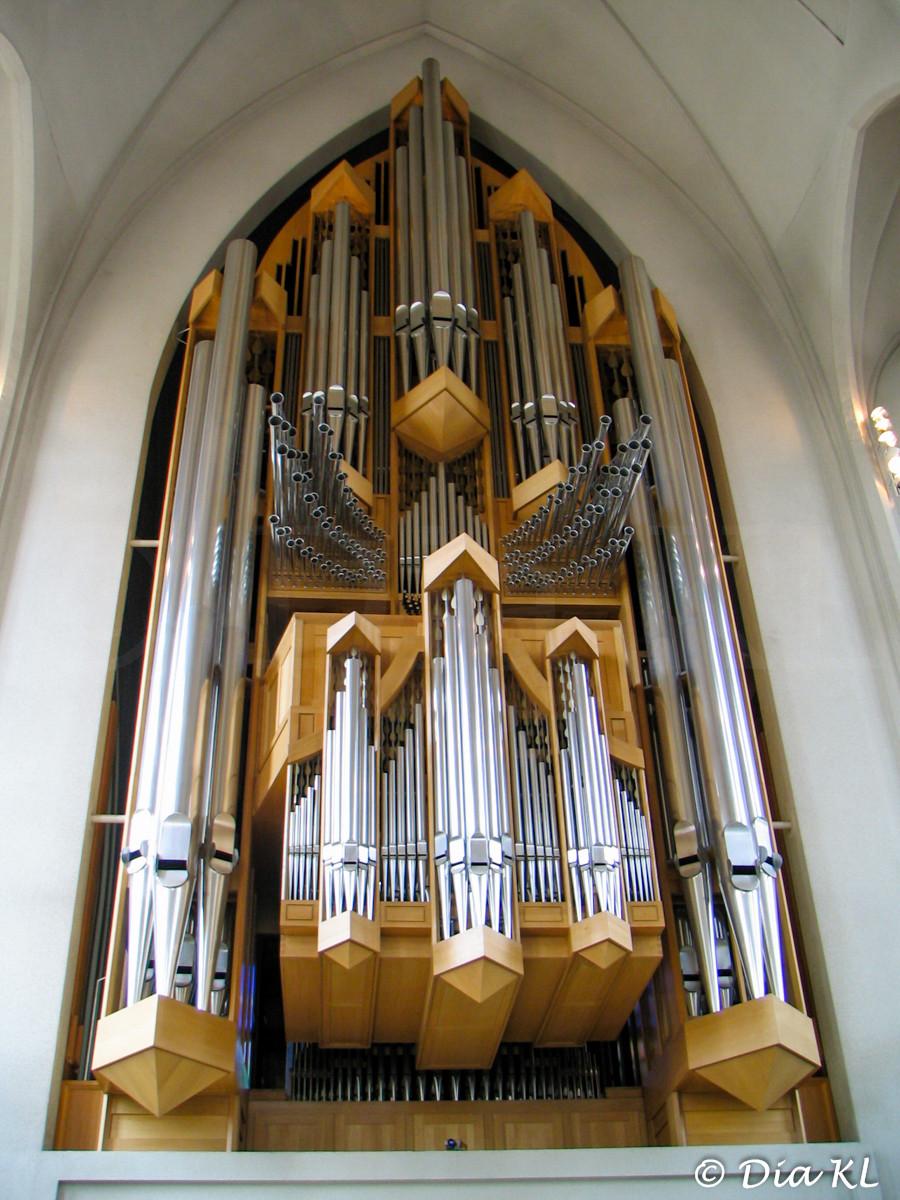 Hallgrimskirkja church pipe organ, Reykjavik, Iceland 2006