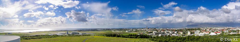 Perlan viewing deck, Reykjavik panoramic view, Iceland 2006