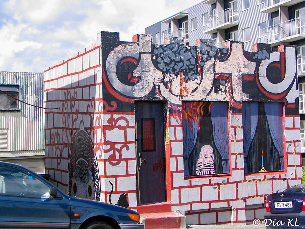 Graffiti house, Reykjavik Iceland 2006