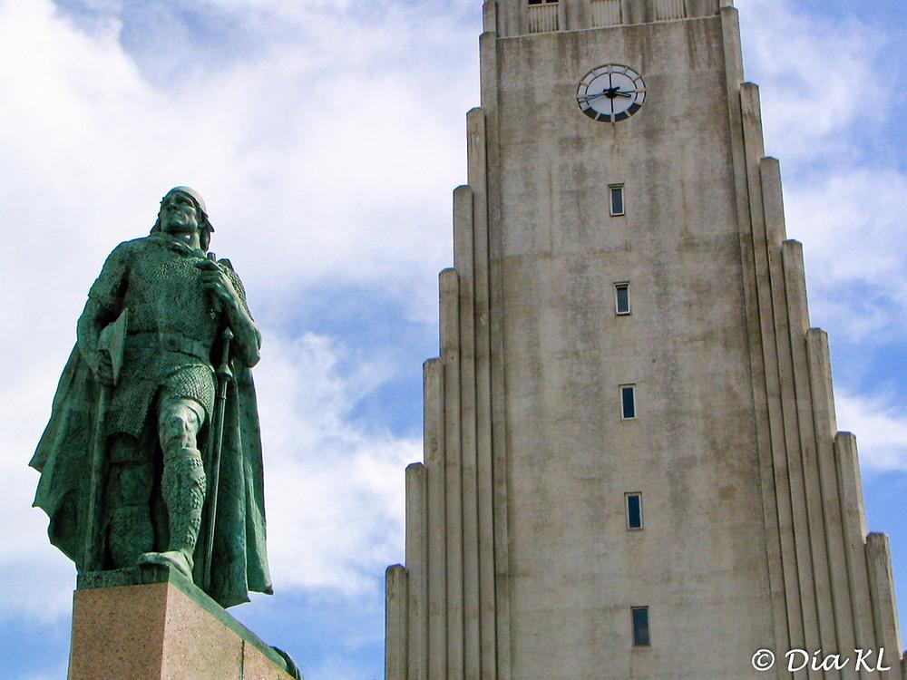 Leif Eriksson explorer statue, Reykjavik, Iceland 2006