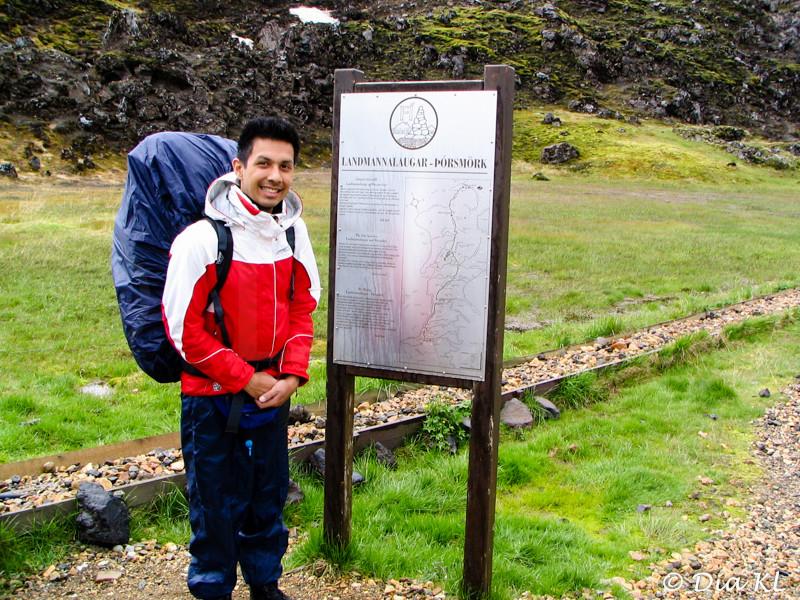 Iceland 2006, Laugavegur trek Day1, Landmannalaugar to Hrafntinnusker (12km), starting point