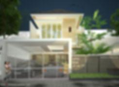 Arsitek sidoarjo Rumah Tropis modern