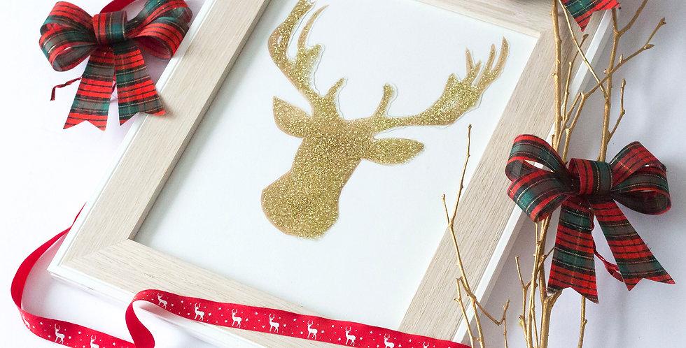 Deer Christmas Frame