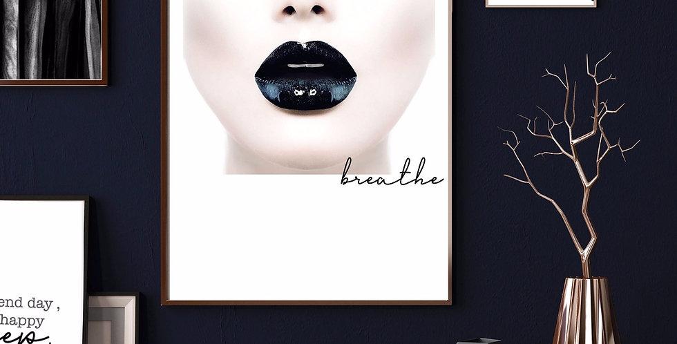 BLACK LIPS PRINT