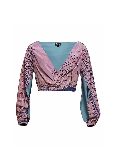 Silk Crossed Long-Sleeve