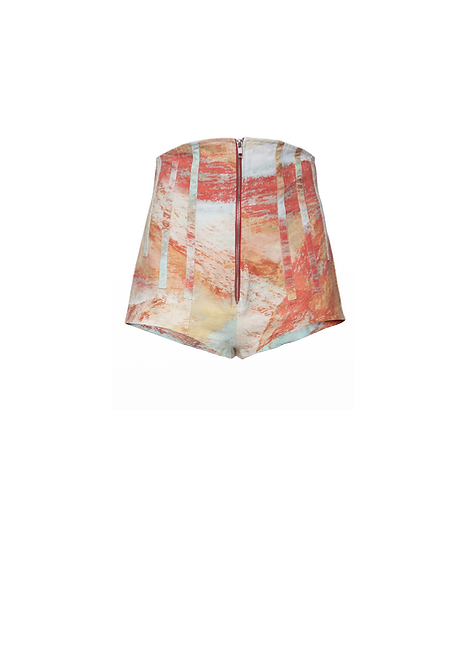 Printed High Waist Boned Culottes
