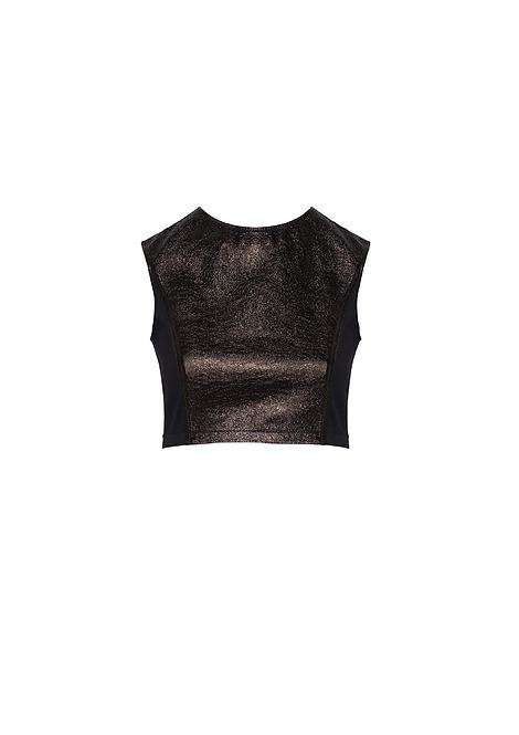 Bronze Leather Top