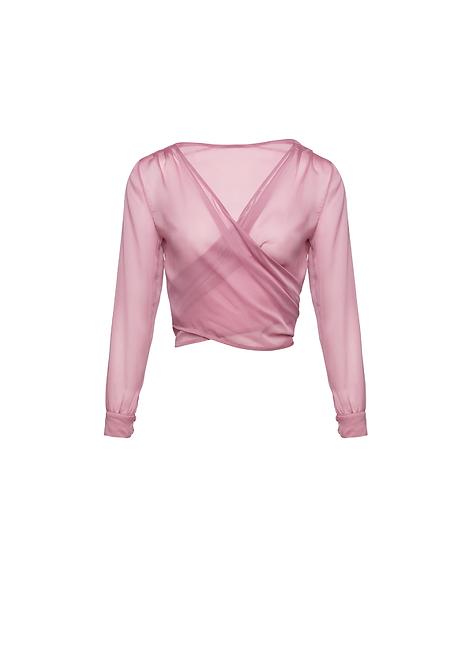 Chiffon Pink Wrap Jacket