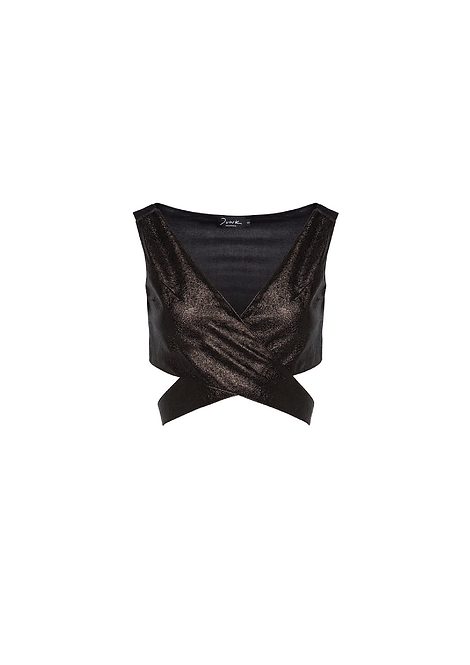 Savage Leather Top