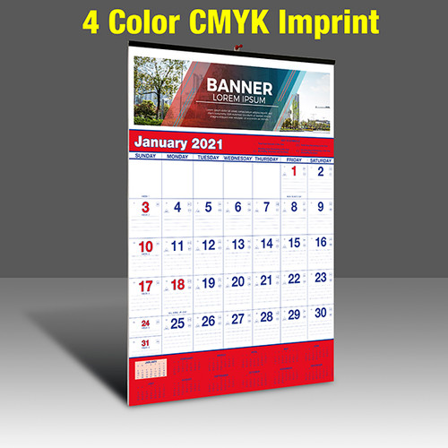 WA102 Reflex Blue & PMS 185 Red - 4 Color Imprint