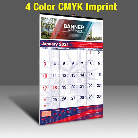 WAPatriotic Wall Calendar - 4 Imprint Color