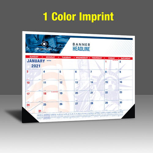 CAPAT220 Desk Calendar - 1 Color Imprint