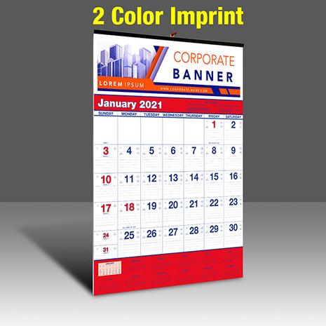 WA102 Reflex Blue & PMS 185 Red - 2 Color Imprint