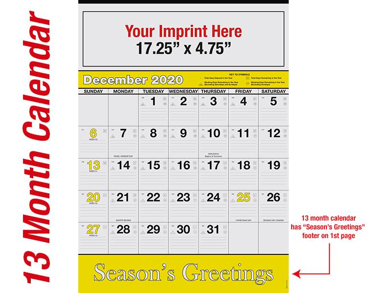 WA102 Black+Yellow Base - 13 month calendar