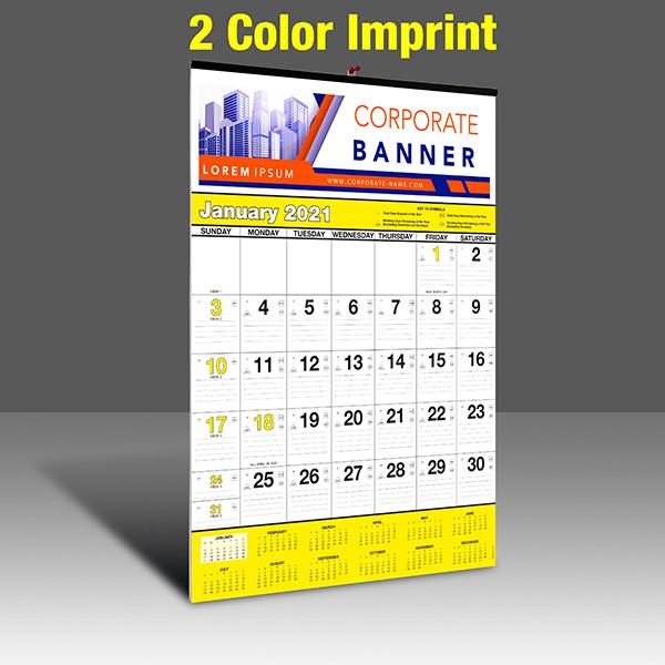 WA102 Black+Yellow Base - 2 Color Imprint