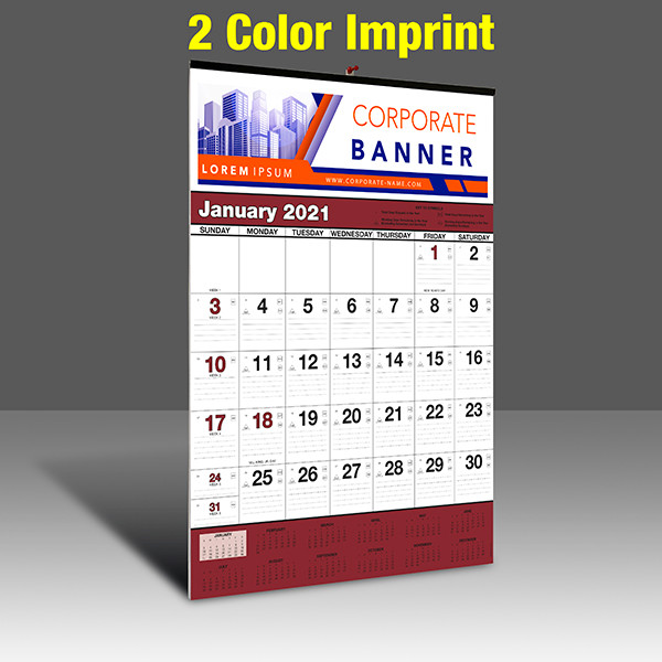 WA102 Black+Burgundy Base - 2 Color Imprint