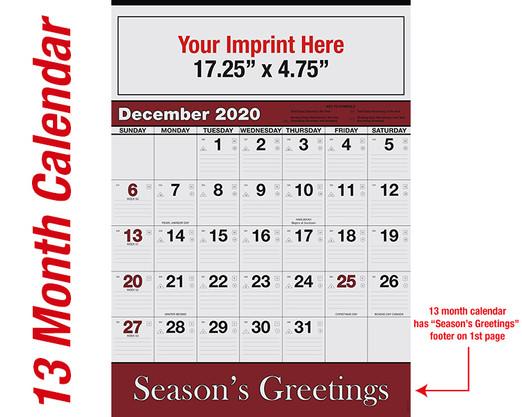 WA102 Black+Burgundy Base - 13 month calendar