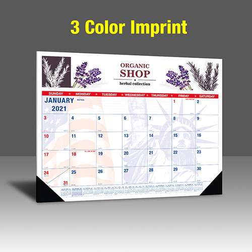 CAPAT220 Desk Calendar - 3 Color Imprint