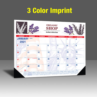 CAPAT220 Desk Calendar - 3 Color Imprint