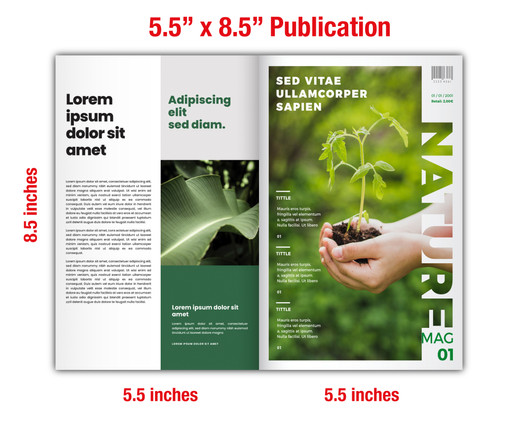 "5.5"" x 8.5"" Catalog & Publication Specs"
