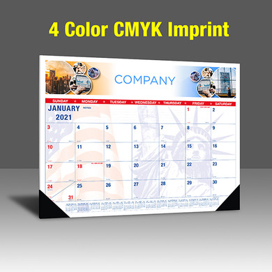 CAPAT220 Desk Calendar - 4 Color Imprint