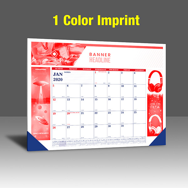 CA208 Reflex Blue & PMS 185 Red Base - 1 Color Imprint