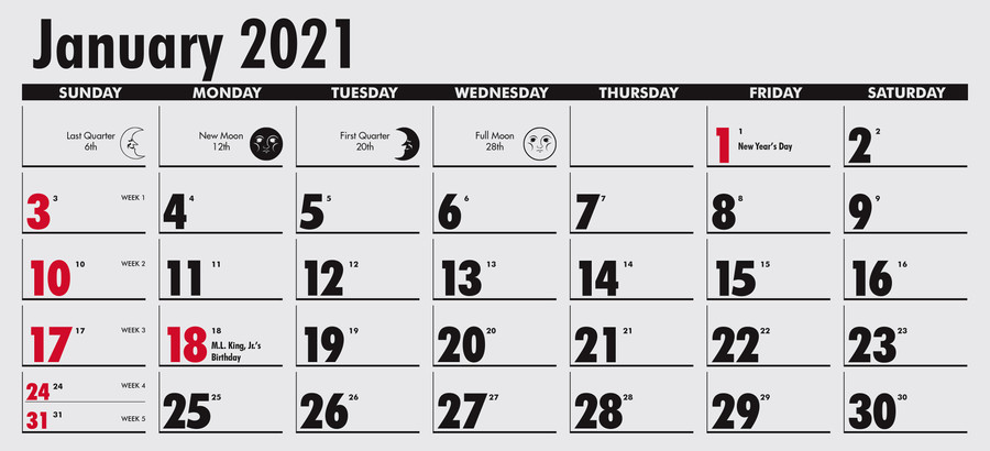 TMP316 - Calendar Single Pad