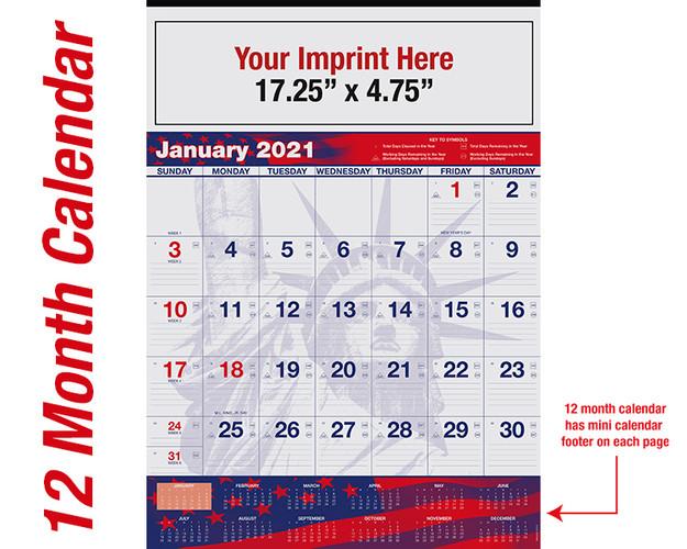 WAPatriotic 12 month calendar