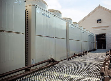 Roof mounted AC condenser