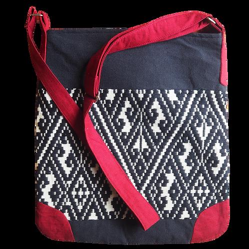 L Tote Bag Weaving Patterned - T45