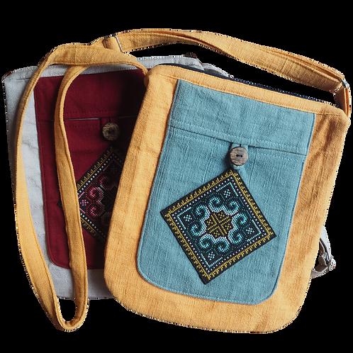 Diamond Messenger Weaving Patterned Bag - T29