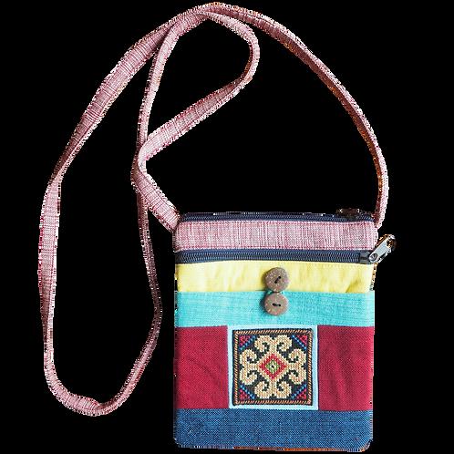 Flower Messenger Weaving Patterned Bag - T41