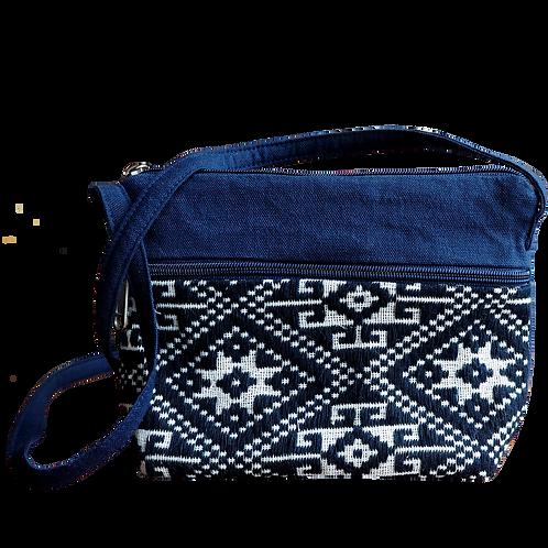 Frame of Weaving Patterned Crossbody Bag- V09