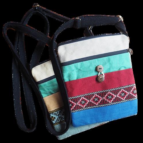 Messenger Weaving Patterned Bag - T01