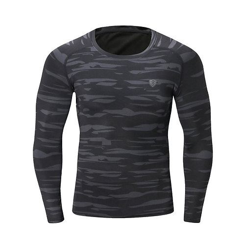 高彈力壓縮健身麻花長袖衫 High stretch compression fitness twist long sleeve shirt