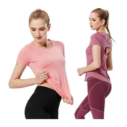 女蝴蝶美背速乾健身運動服  Quick Dry Fitness Yoga Set