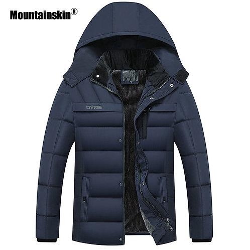 英式保暖防風加絨連帽外套 Warm Windproof Plus Velvet Hooded Jacket