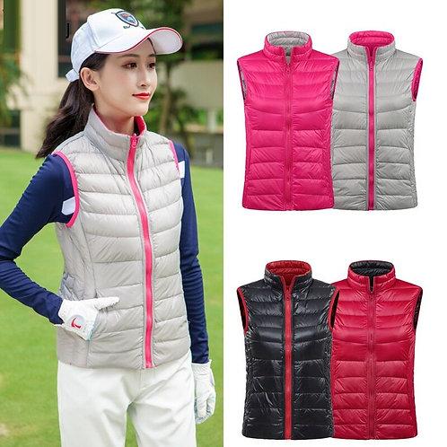 女子輕量級高爾夫雙面穿羽毛背心 Women's Lightweight Golf Feather Vest