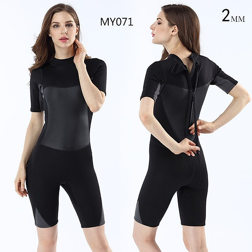 氯丁橡膠2MM女士短袖短褲連身潛水服 Neoprene 2MM Ladies Short Sleeved Diving Suit