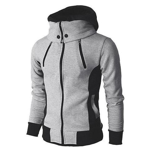 秋冬休閒搖粒絨飛行時尚修身連帽外套 Fleece Fashion Slim Hooded Jacket