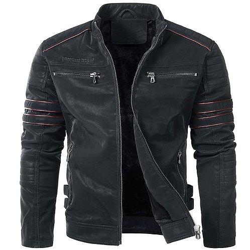 街頭時尚仿皮男騎士夾克 Stylish Motorcycle PU Jacket