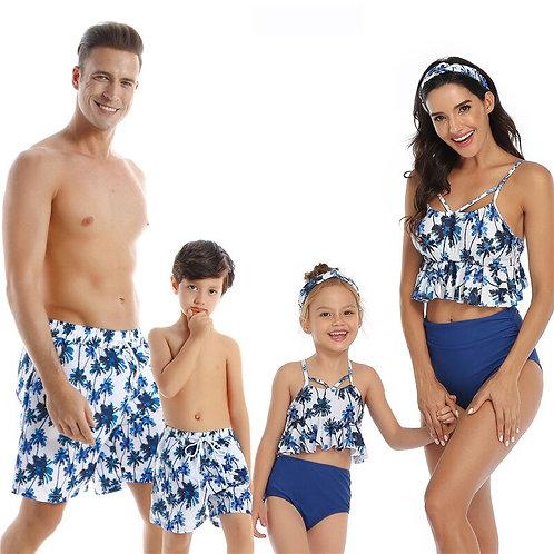 漫步沙灘親子泳裝Walking on the beach parent-child swimwear