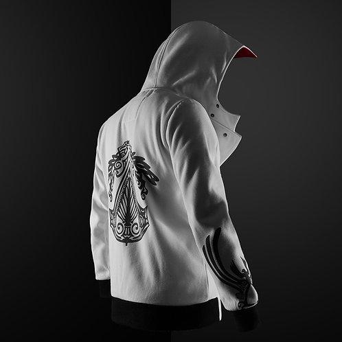 中性黑蝙蝠刺繡連帽拉鍊外套 Unisex black bat embroidered hooded zipper coat