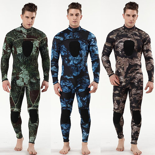 3mm 迷彩氯丁橡膠SCR保暖連身潛水服 3mm  one piece SCR Rubber Submersible Diving Suit