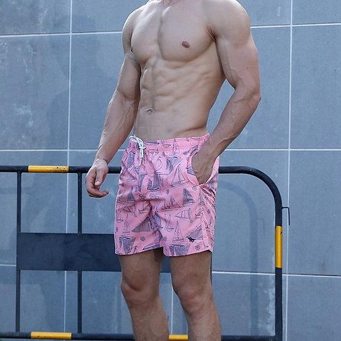粉紅帆船海灘褲Pink sailing board shorts