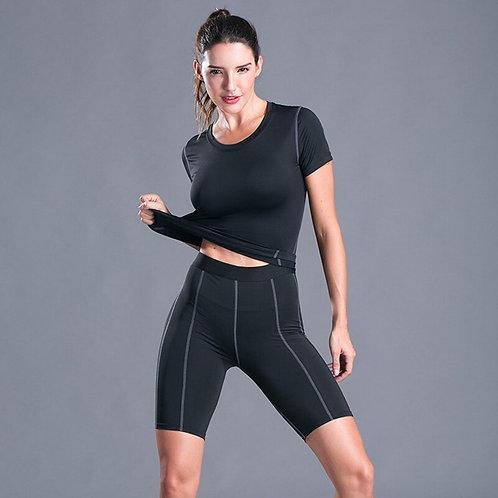 純色線條功夫健身套裝 Gym Wear Fitness Quick Dry Set
