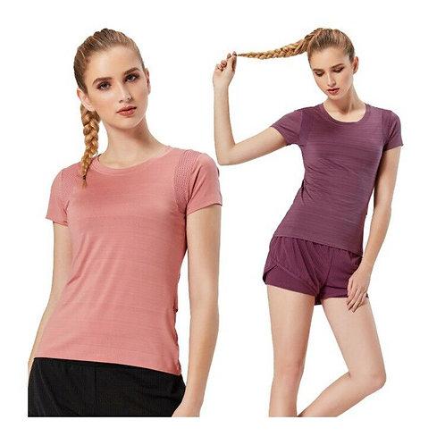 女速乾跑步騎車瑜伽T恤 Women Quick Dry Running Cycling Yoga T Shirt